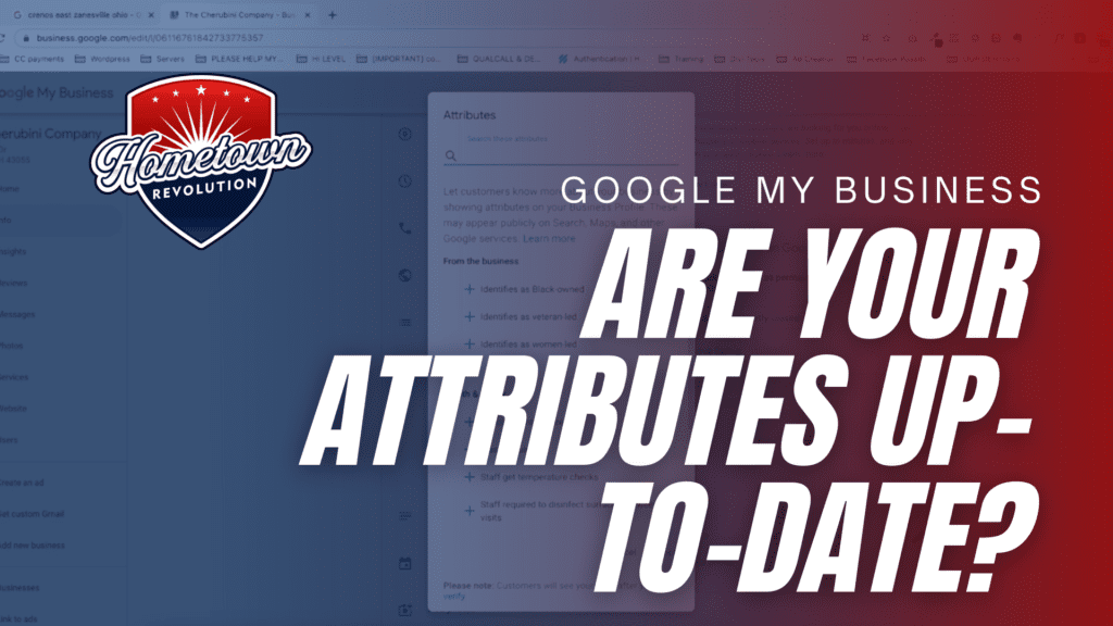 Are your google my business attributes up-to-date
