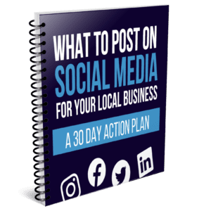 what to post on social media for local business